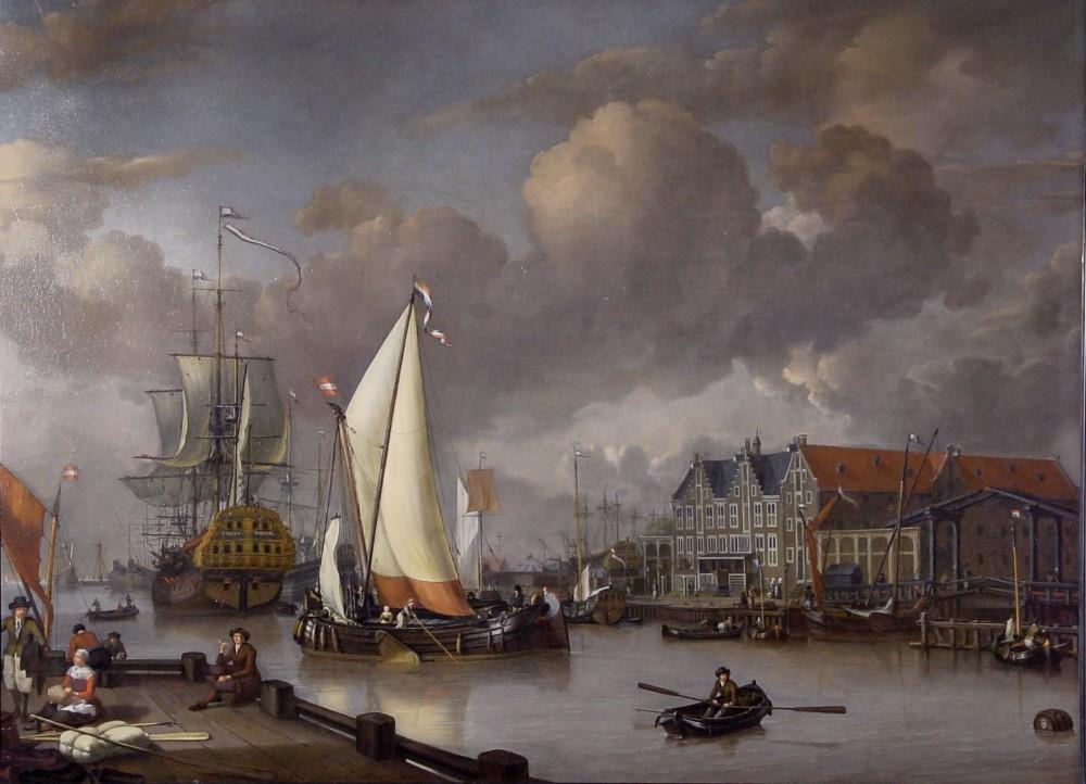 Schilderij, Jan Claesz. Rietschoof, Gezicht op het Oostereiland, 1652-1719 (WFM)
