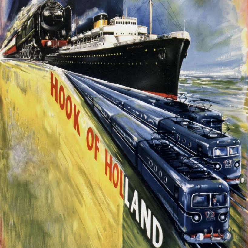 Affiche Harwich-Hook of Holland, Paul Mann, ca. 1954 (coll. Jürgen Klein)