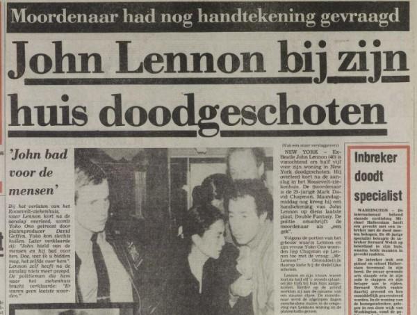 De moord op John Lennon - 8 december 1980