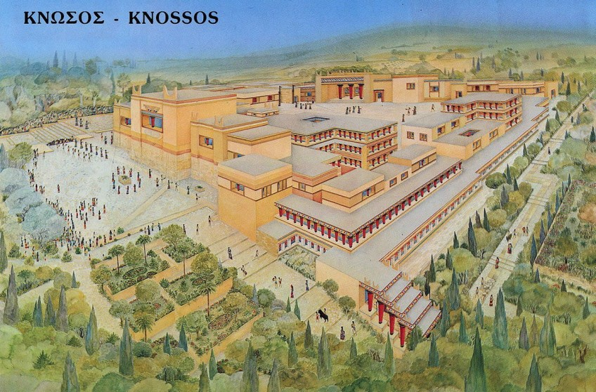 Reconstructie van Knossos