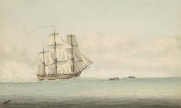 De Endeavour, het schip van James Cook (Samuel Atkins, ca. 1794)