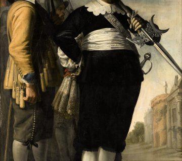 Portret van Willem Reyersz. de Langue en Daniël Fransz. van der Brugge   1648 Jacob Delff II
