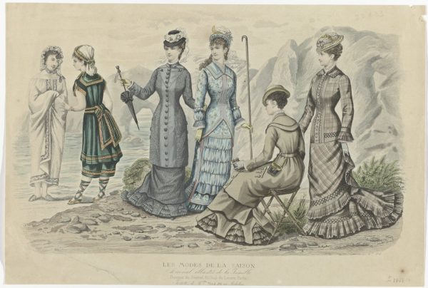 Prent uit het modetijdschrift Les Modes de la Saison, ca. 1881, Rijksmuseum (RP-P-2009-3690)