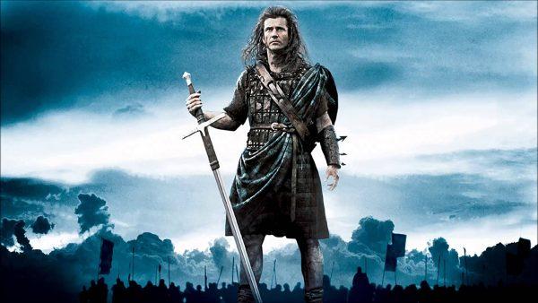 Mel Gibson als William Wallace in de film Braveheart (Still YouTube)