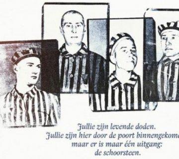 Vier Poolse verzetsstrijders in Auschwitz
