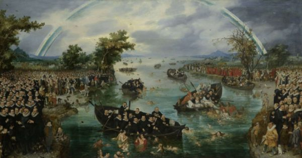 De zielenvisserij, Adriaen Pietersz. van de Venne, 1614. Bron: Rijksmuseum