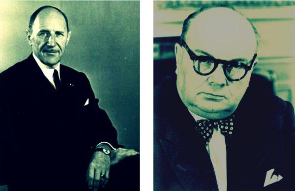 Joseph Luns & Paul-Henri Spaak (foto Europees Parlement)