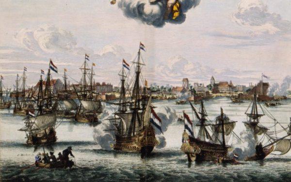 In 1663 verovert de VOC de stad Cochin op de Portugezen. (Coenraet Decker, 1682)