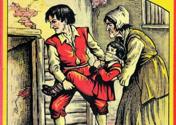 Een joods jongetje wordt in de oven gegooid omdat hij van het 'Lichaam van Christus' gegeten heeft (Boek Ewoud Sanders)