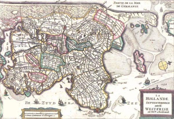 Oude kaart van West-Friesland