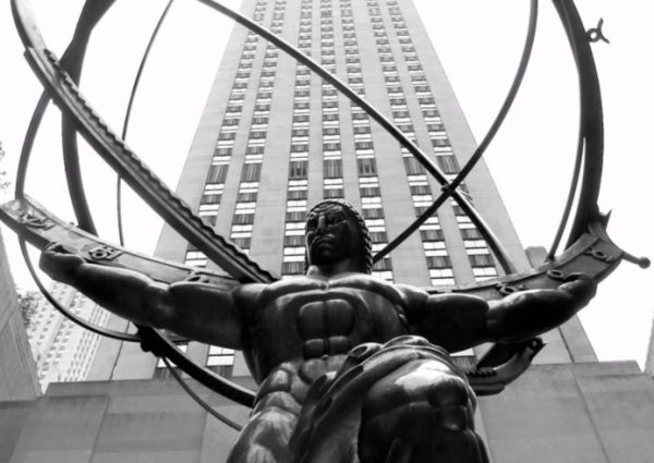 Standbeeld van Atlas in het Rockefeller Center in New York City (Lee Lawrie)