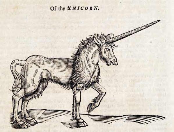 Houtsnede van een eenhoorn, 1658