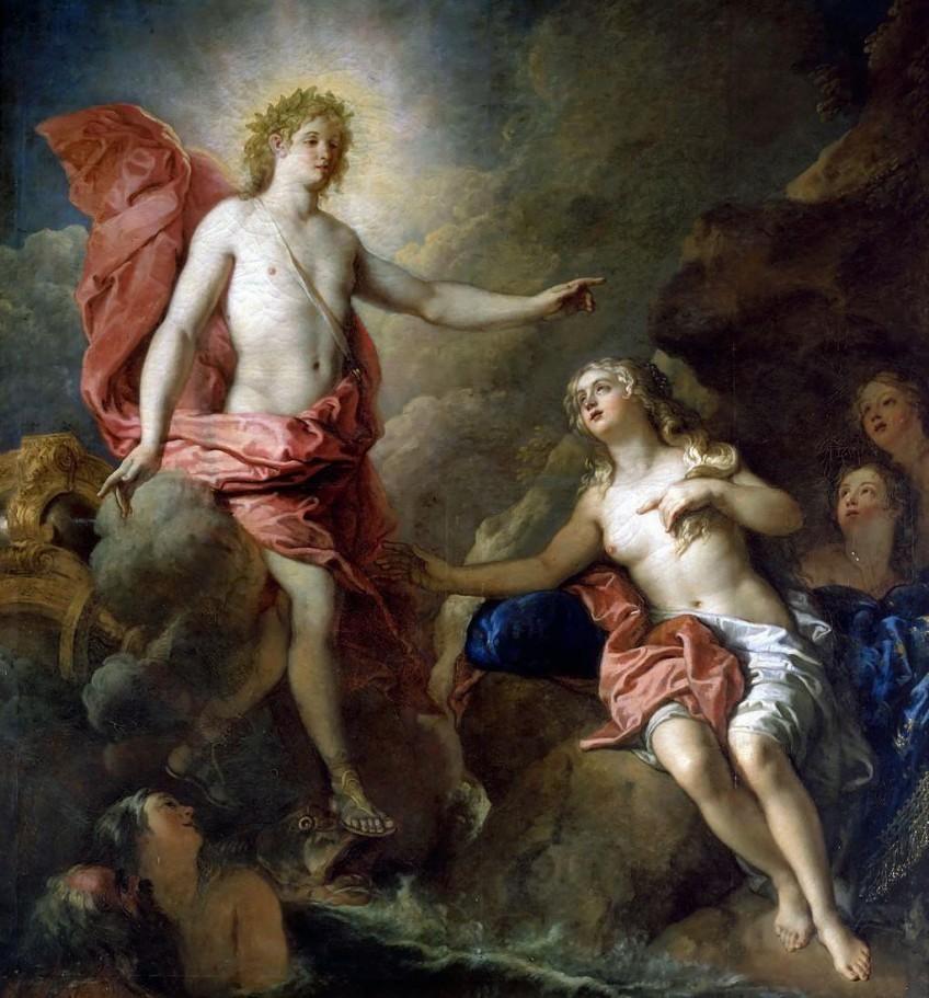 Apollo en Thetis - Charles de La Fosse