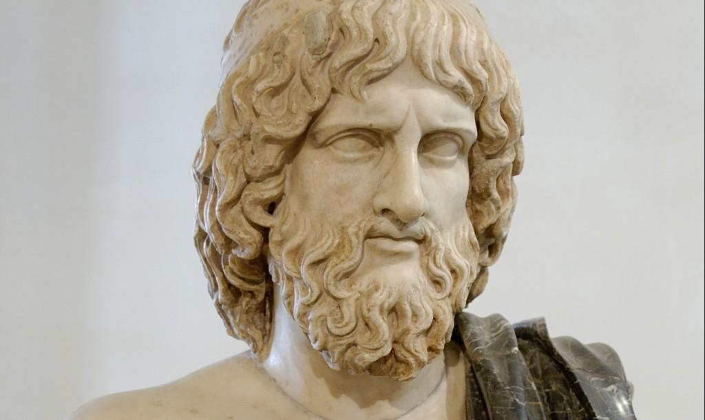 Marmeren buste van Hades - Romeins kopie naar een Grieks origineel uit de vijfde eeuw voor Christus