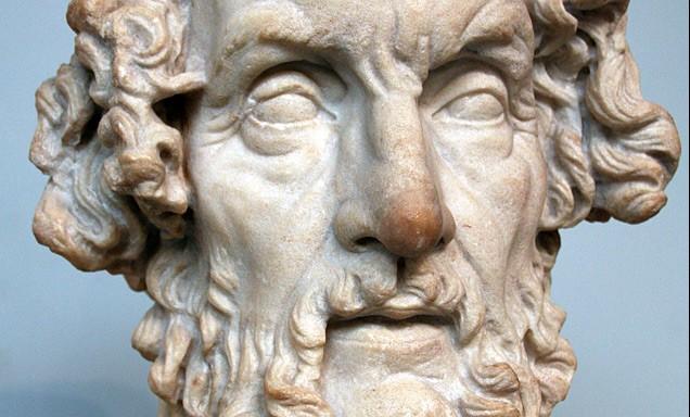 Buste van Homerus in het British Museum (Romeinse voorstelling)