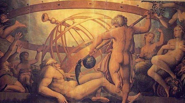 Cronus verslaat Uranus
