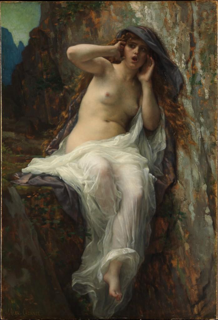 De nimf Echo - Alexandre Cabanel, 1887