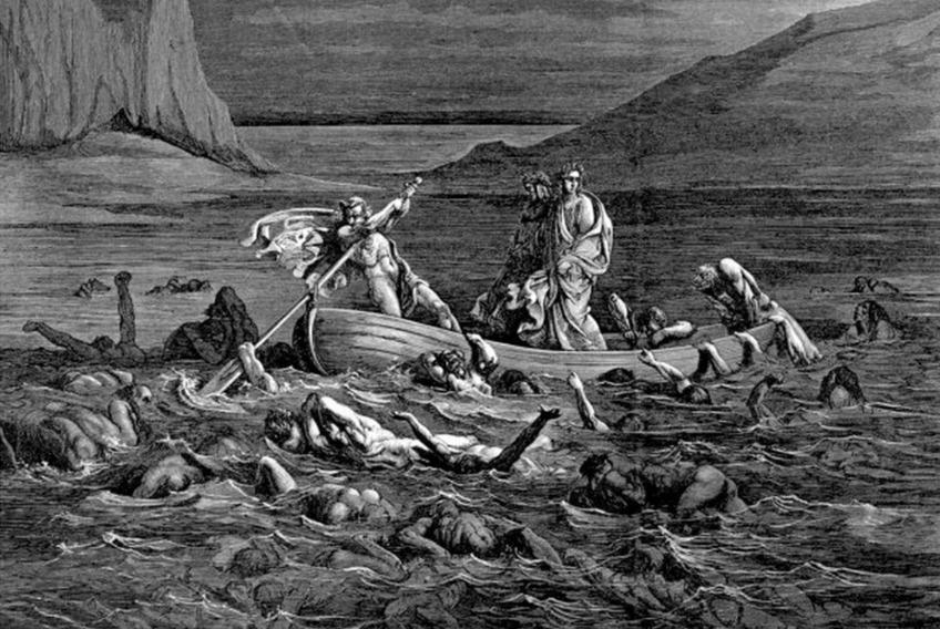 De rivier de Styx volgens Doré