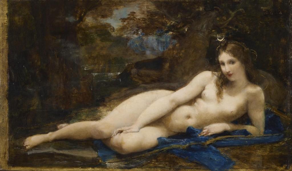 De rustende Diana (Artemis) - Paul-Jacques-Aimé Baudry