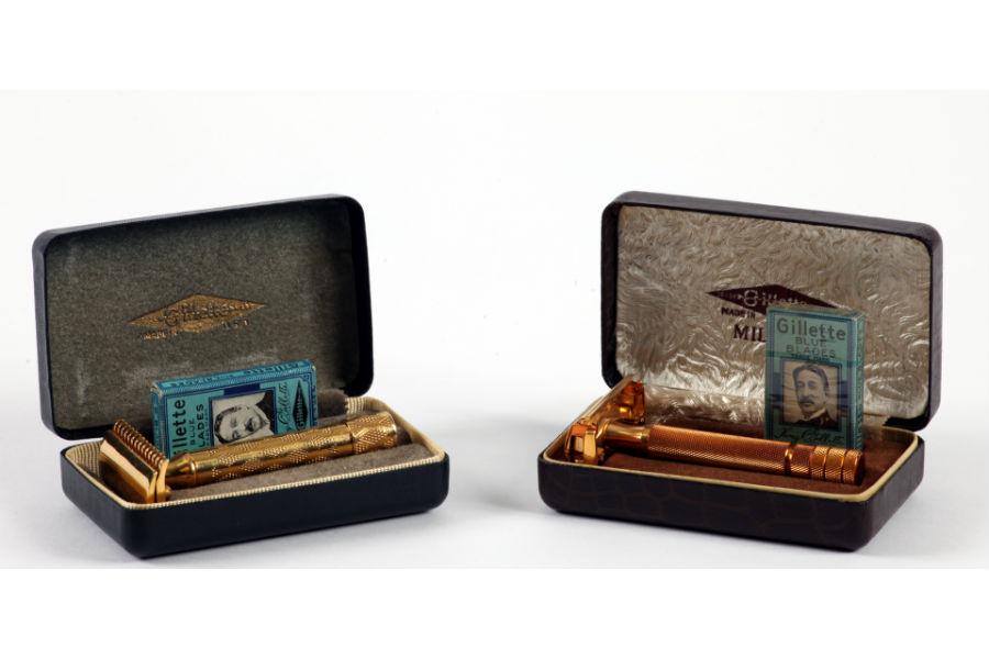 Gillette scheermessen uit circa 1930