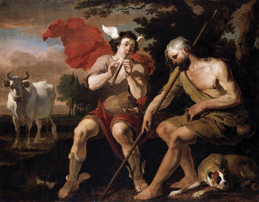 Mercurius (Hermes) en Argos - Abraham Danielksz. Hondius