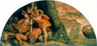 Polyphemus wordt verblind - Alessandro Allori