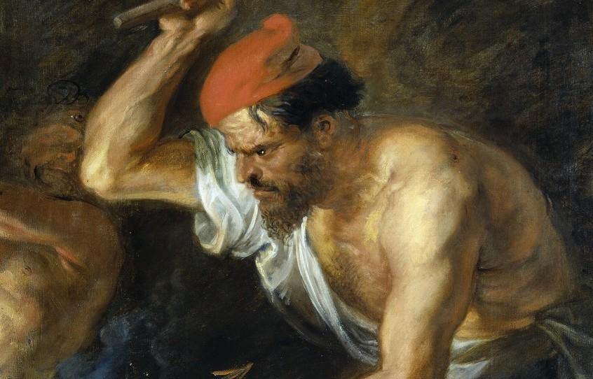 Vulcanus (Hephaistos) volgens Rubens