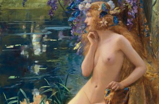 Waternimf, door Gaston Bussière