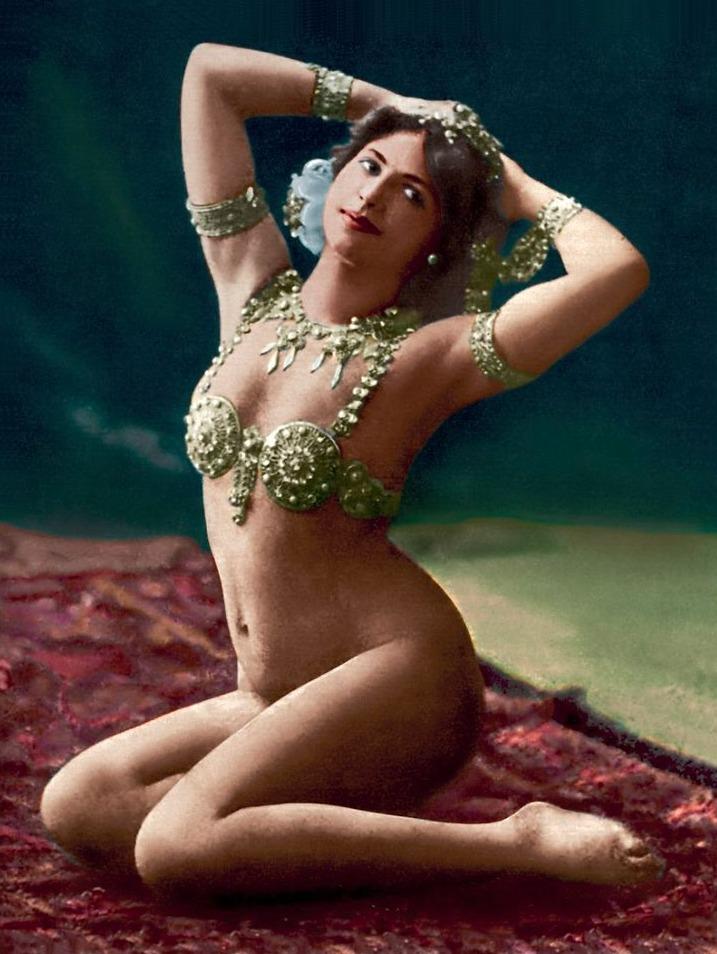 Ingekleurde foto van Mata Hari