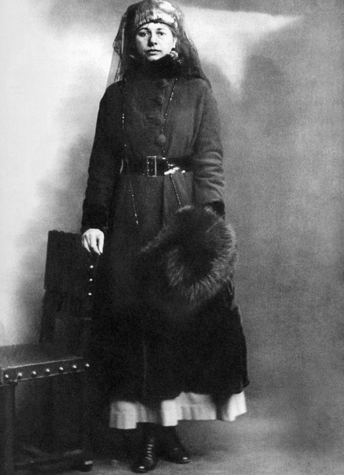 Mata Hari op de dag van haar arrestatie