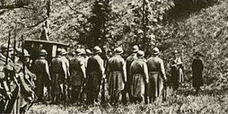 Executie van Mata Hari - Still uit een film uit 1920