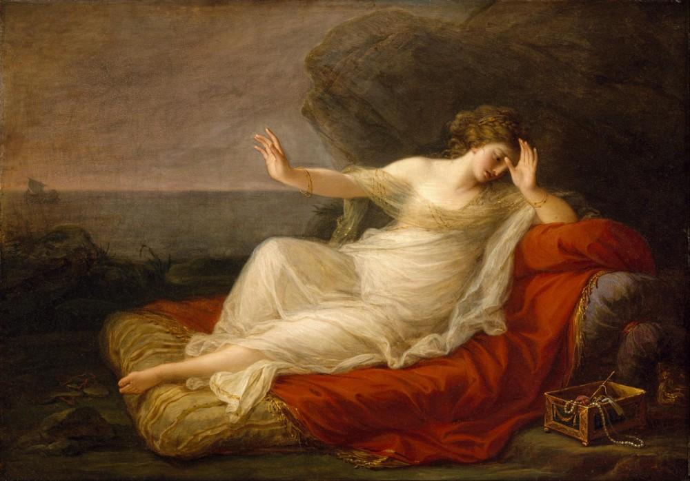 Ariadne, verlaten door Theseus - Angelica Kauffman, 1774