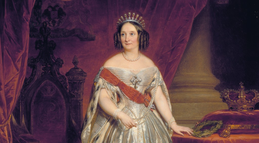 Queen Anna of the Netherlands, née Grand Duchess Anna Pavlovna of Russia *oil on canvas *286 × 200 cm *1849