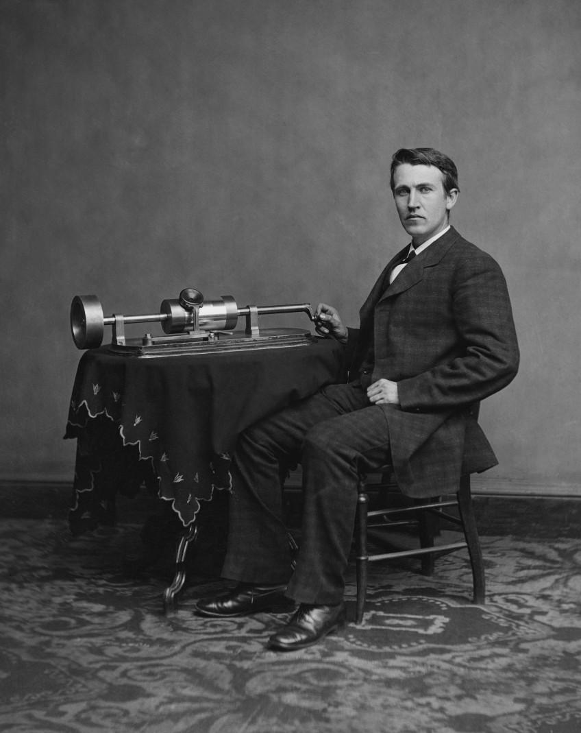 Thomas Edison Uitvinder Van De Gloeilamp Historiek