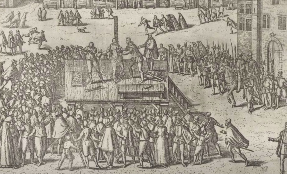 Executie van Balthasar Gerards, 1584 - Frans Hogenberg