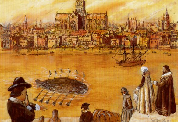 Onderzeeboot van Cornelis Drebbel