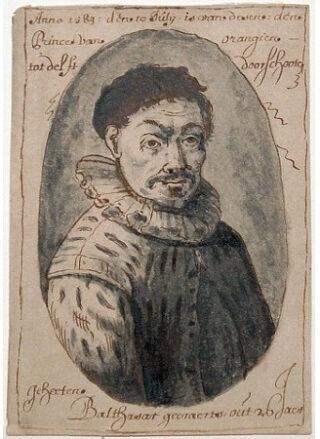 Portret van Balthasar Gerards