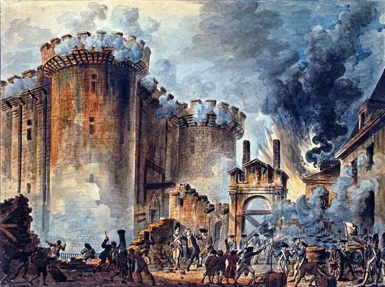 Bestorming van de Bastille - Jean-Pierre Houël, 1789