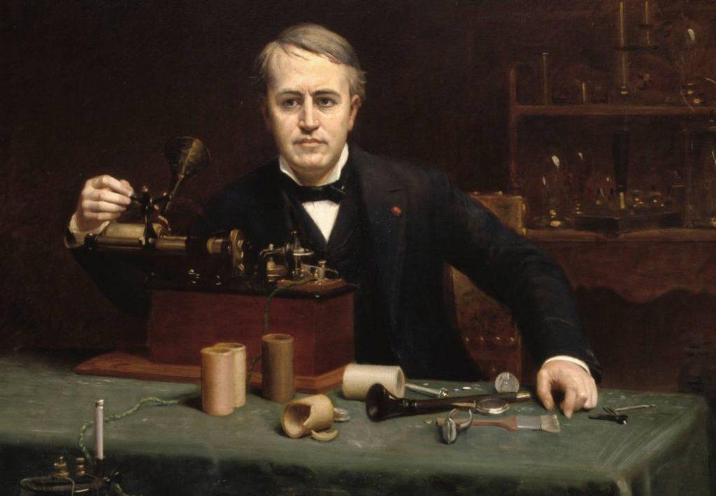 Portret van Thomas Edison door Abraham Archibald Anderson, 1890 (Publiek Domein - National Portrait Gallery - wiki)