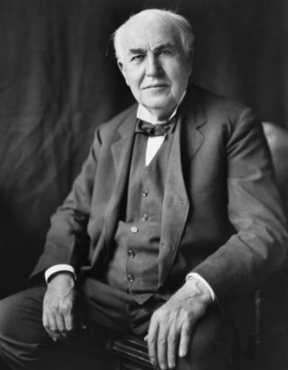 Thomas Edison in ca. 1922 (Publiek Domein - wiki)