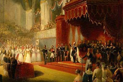 Fragment: 'Inhuldiging van Koning Willem II' van Nicolaas Pieneman