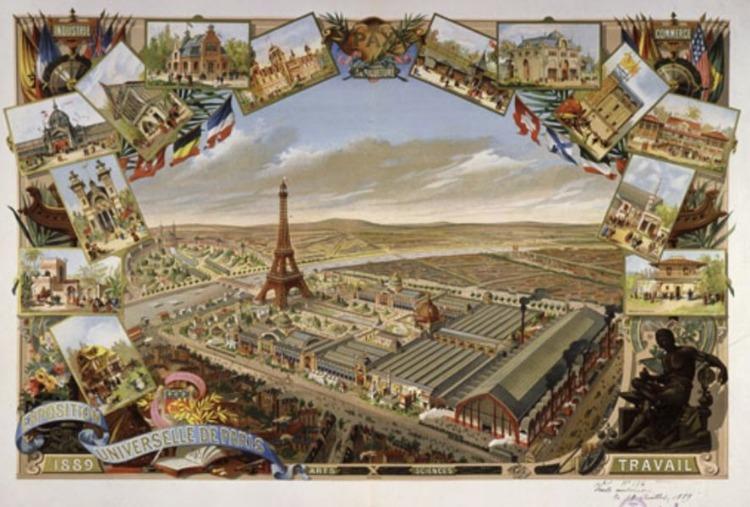 Eiffeltoren in 1889 (Publiek Domein - wiki)