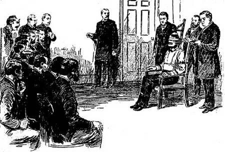 Afbeelding van de executie van William Kemmler