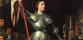 Jeanne d'Arc, standvastig en van het vuur niet bang