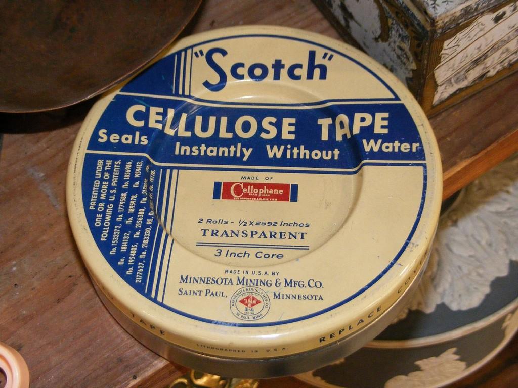 Oude verpakking voor Scotch
