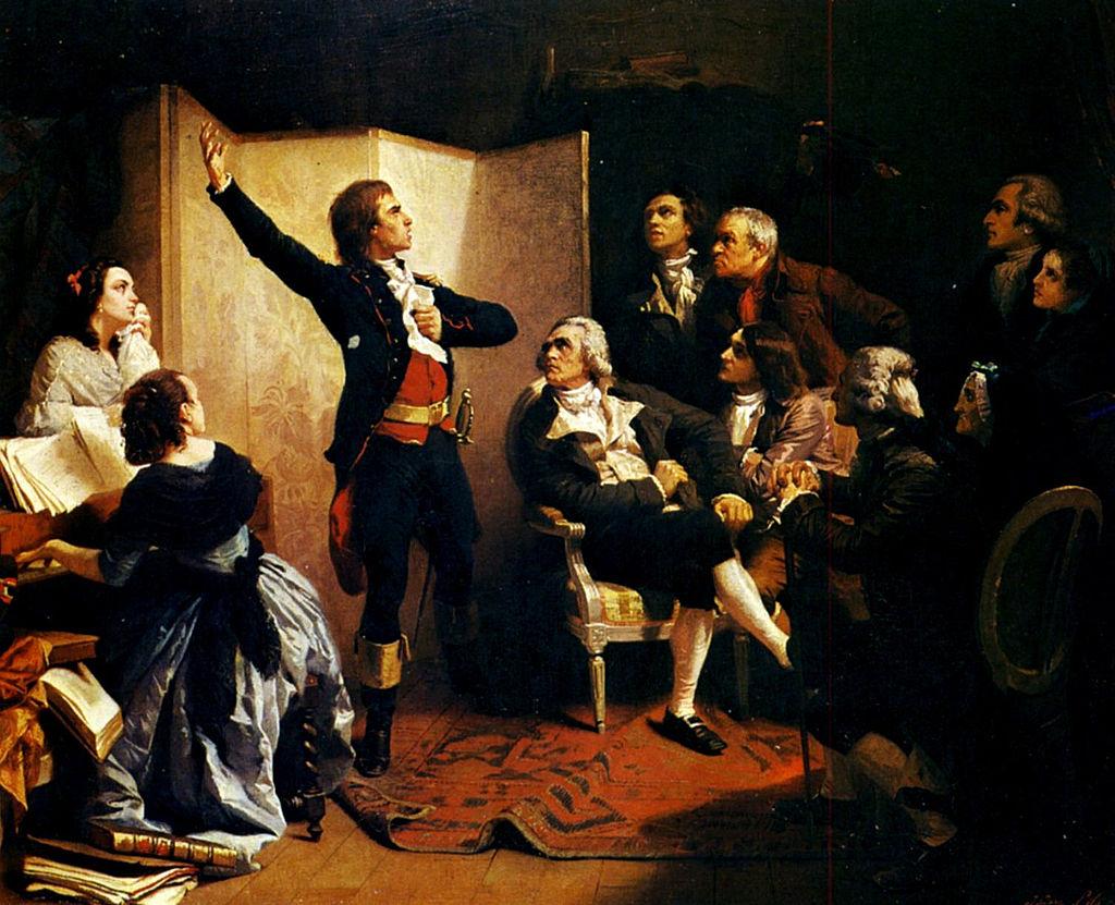 Rouget de l'Isle chantant « La Marseillaise », 1849, Isidore Pils, Strasbourg, Musée des Beaux-Arts, De componist van de Marseillaise zingt het lied voor het eerst in de salon van de burgemeester van Straatsburg
