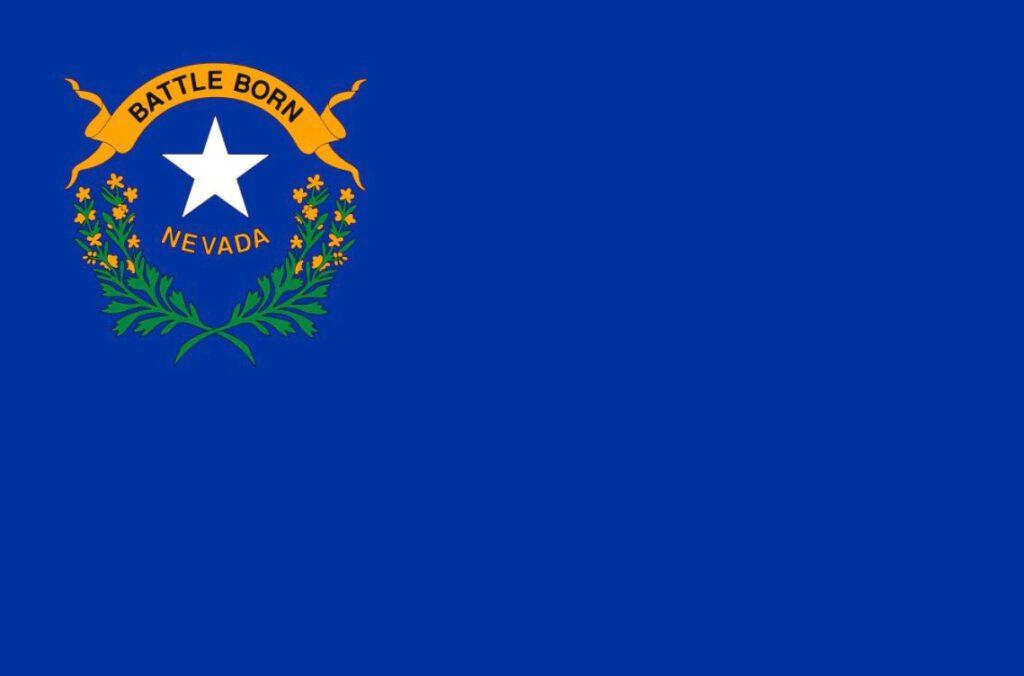 Vlag van de Amerikaanse staat Nevada
