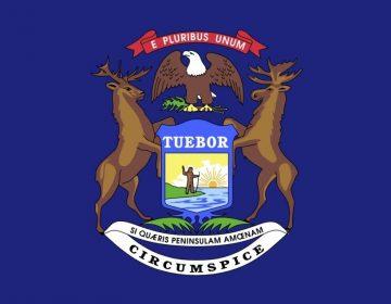Vlag van de Amerikaanse staat Michigan