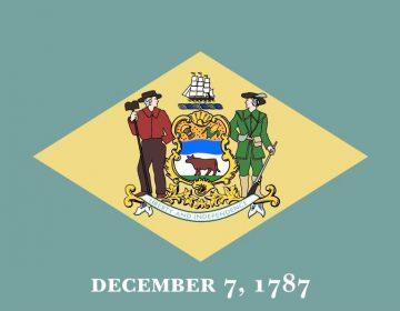 Vlag van de Amerikaanse staat Delaware