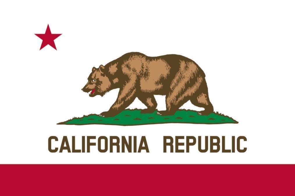 Vlag van de Amerikaanse staat Californië